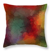 Colorful Geometric Pattern Abstract Art Throw Pillow