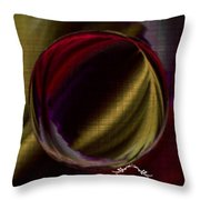 Colorful Glass Marble Art  Throw Pillow