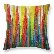 Colorful Grace Throw Pillow
