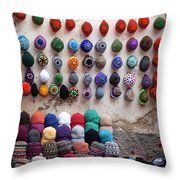 Colorful Hats Throw Pillow