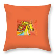 Colorful Horse Throw Pillow