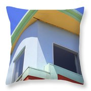 Colorful House In San Francisco Throw Pillow