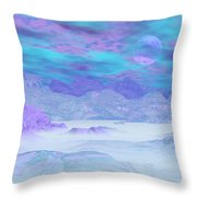 Colorful Icebergs - 3d Render Throw Pillow
