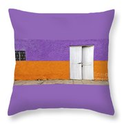 Colorful In Negril Throw Pillow