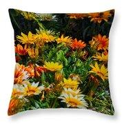 Colorful In The Garden  Throw Pillow
