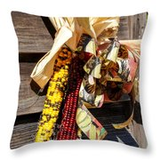 Colorful Indian Corn Decorations Throw Pillow
