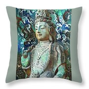 Colorful Indian Diety Figure Throw Pillow
