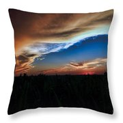 Kansas - Land Of Beautiful Sunsets Throw Pillow