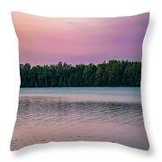 Colorful Lake-side Sunset Throw Pillow