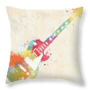 Colorful Les Paul Throw Pillow
