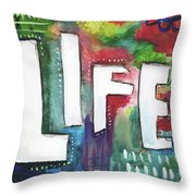 Colorful Life- Art By Linda Woods Throw Pillow