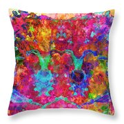 Colorful Life Throw Pillow