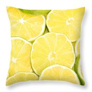 Colorful Limes Throw Pillow