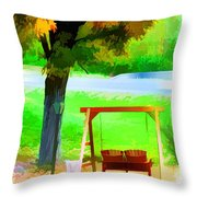 Colorful Maple Tree In The Autumn Throw Pillow