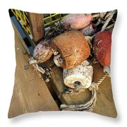 Colorful Marker Buoys Throw Pillow