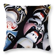 Colorful Masks Throw Pillow