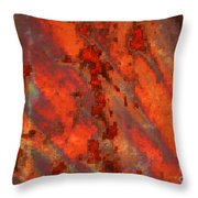 Colorful Metal Abstract With Border Throw Pillow
