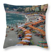 Colorful Monterosso Throw Pillow