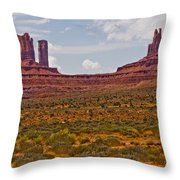 Colorful Monument Valley Throw Pillow