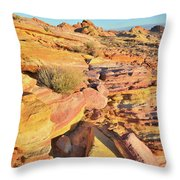 Colorful Morning At Valley Of Fire Throw Pillow