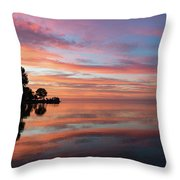 Colorful Morning Mirror - Spectacular Sky Reflections At Dawn Throw Pillow