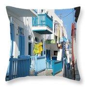 Colorful Mykonos Throw Pillow