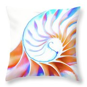 Colorful Nautilus Throw Pillow