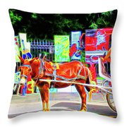 Colorful New Orleans Throw Pillow