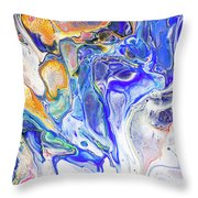 Colorful Night Dreams 5. Abstract Fluid Acrylic Painting Throw Pillow