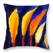 Colorful Night Throw Pillow
