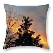 Colorful Nightfall Throw Pillow