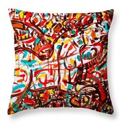 Colorful Nude 1 Throw Pillow