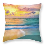 Colorful Ocean Sky Throw Pillow