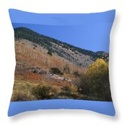 Colorful Orient Canyon - Rio Grande National Forest Throw Pillow