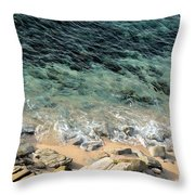 Colorful Pacific Ocean Throw Pillow