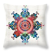 Colorful Pattern Art - Color Fusion Design 3 By Sharon Cummings Throw Pillow
