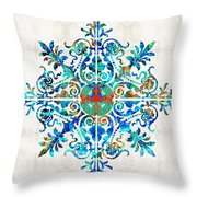 Colorful Pattern Art - Color Fusion Design 5 By Sharon Cummings Throw Pillow