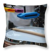 Colorful Percussion Throw Pillow