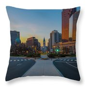 Colorful Philadelphia Morning Throw Pillow