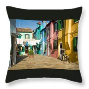 Colorful Piazza Throw Pillow