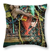 Colorful Pile 3 Throw Pillow