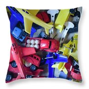 Colorful Plastic Toys #1 Throw Pillow