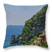 Colorful Positano Throw Pillow