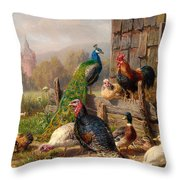 Colorful Poultry Throw Pillow