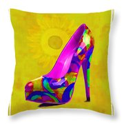 Colorful Pump Throw Pillow