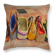 Colorful Purses Throw Pillow