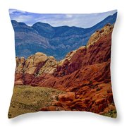 Colorful Red Rock Throw Pillow