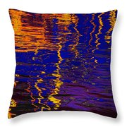 Colorful Ripple Effect Throw Pillow