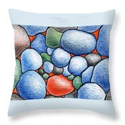Colorful Rock Abstract Throw Pillow