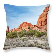 Colorful Rock Formations In Kodachrome Basin State Park, Utah Throw Pillow